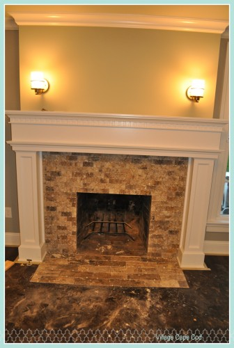Front Room - Fireplace Tile (1)