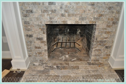 Front Room - Fireplace Tile (2)