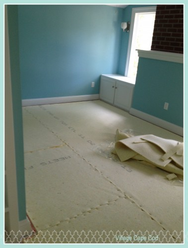 Maren's Bedroom - Carpet Padding (1)