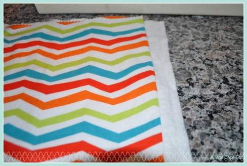 Easy Burp Cloths Step 1