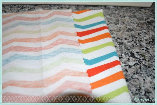 Easy Burp Cloths - Step 2