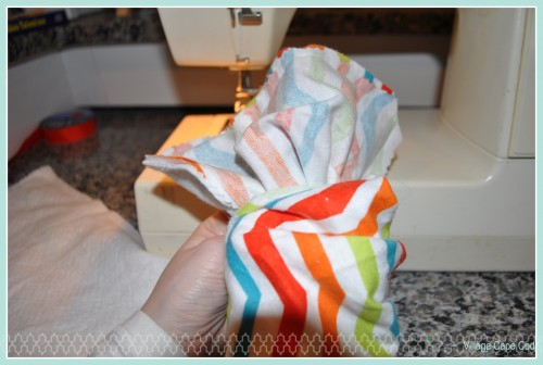 Easy Burp Cloths Step 5
