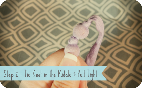 Step 2 Tie Knot in Middle - Copy